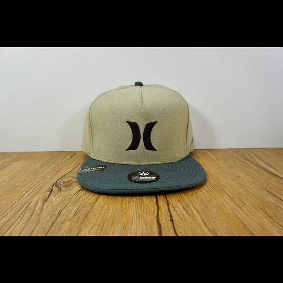 93c68c528be78 Hurley Snap Back Hat Khaki   Nike Dri Fit